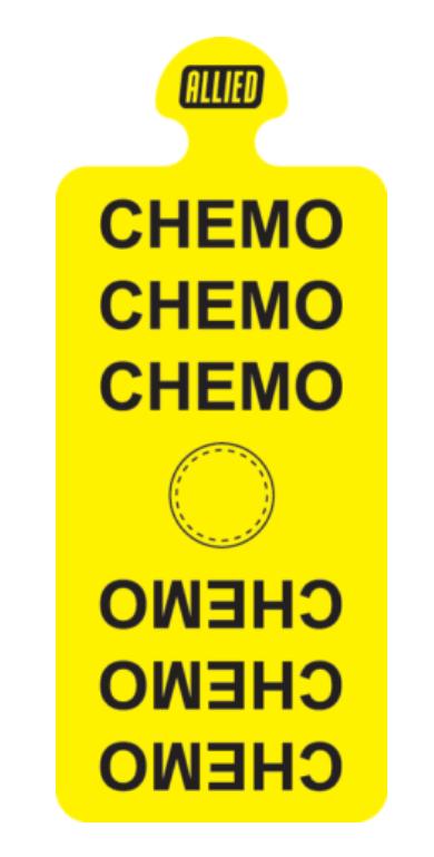 Steri-Tamp CHEMO-Bag-Port-etiquetas-esteriles