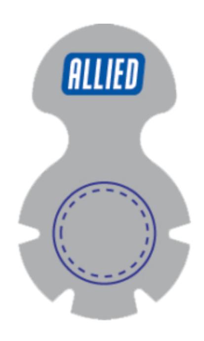 Steri Tamp Silver Vial Seal 20mm etiquetas esteriles